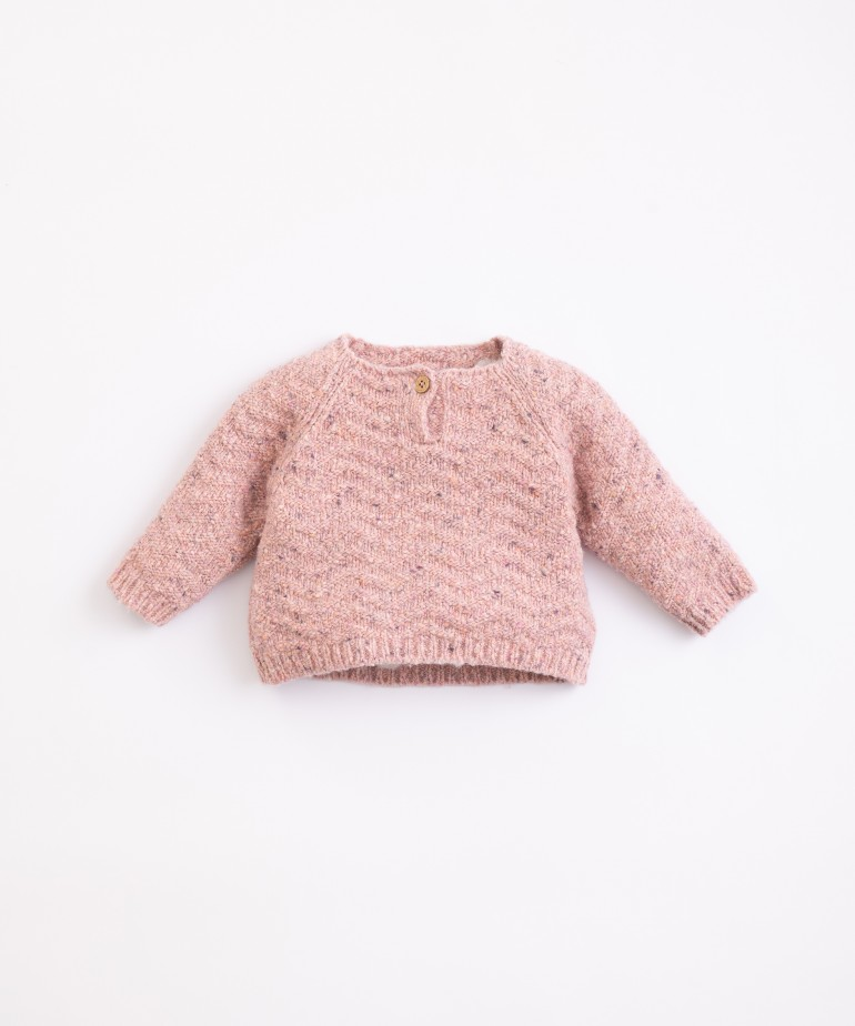 Jersey tricotado con fibras recicladas