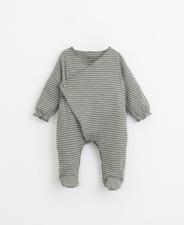 Set da 2 pigiamini a righe e liscio | Illustration